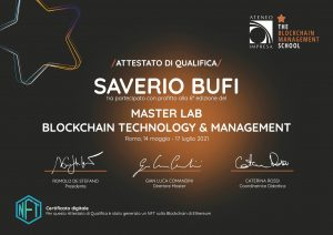 Attestato blockchain
